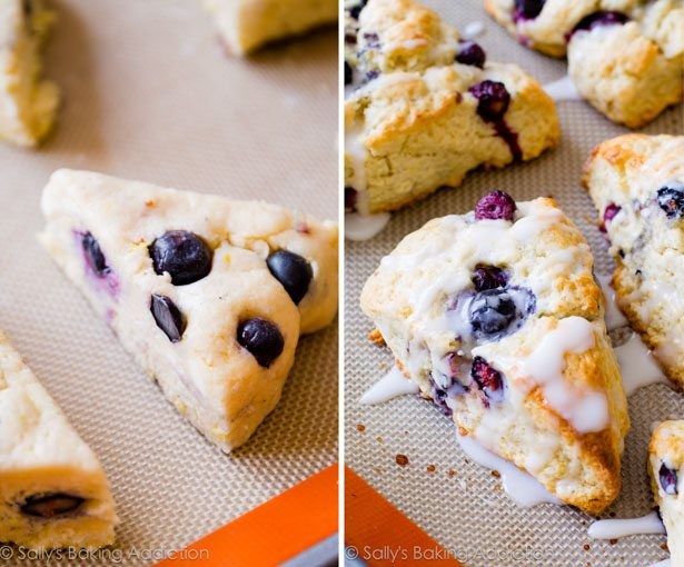 My go-to scone recipe! Glazed Lemon Blueberry Scones on sallysbakingaddiction.com