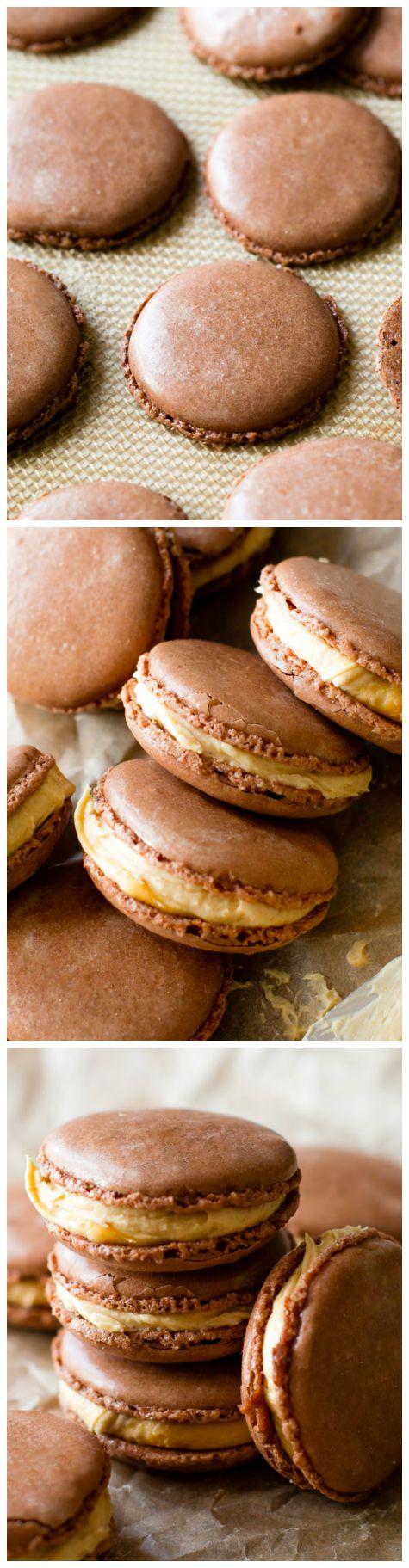 Chocolate Peanut Butter Macarons - Sallys Baking Addiction