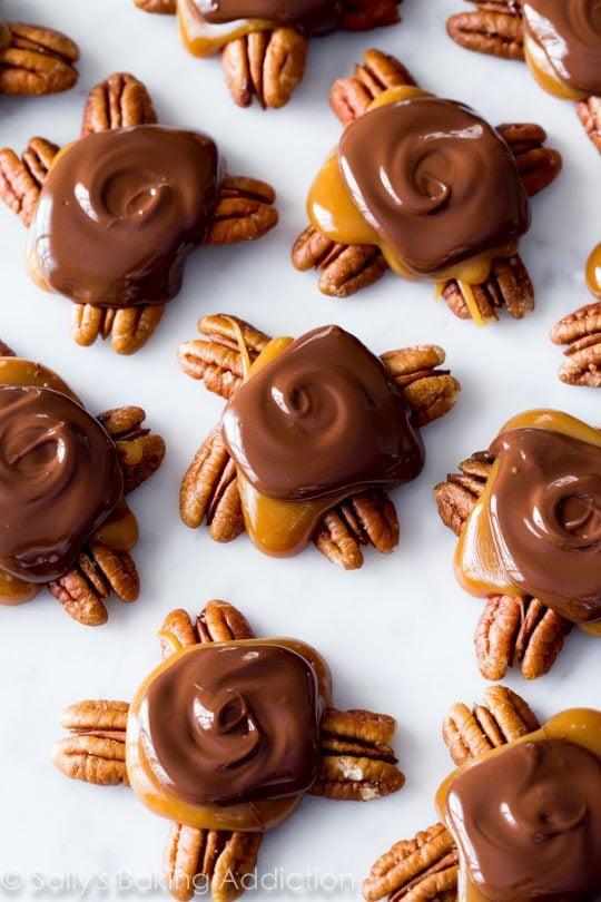 Sally's Candy Addiction Cookbook Chocolate Turtles recipe