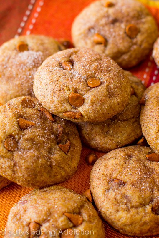 Easy cinnamon chip pumpkin cookies that are chewy and soft, without being cakey!