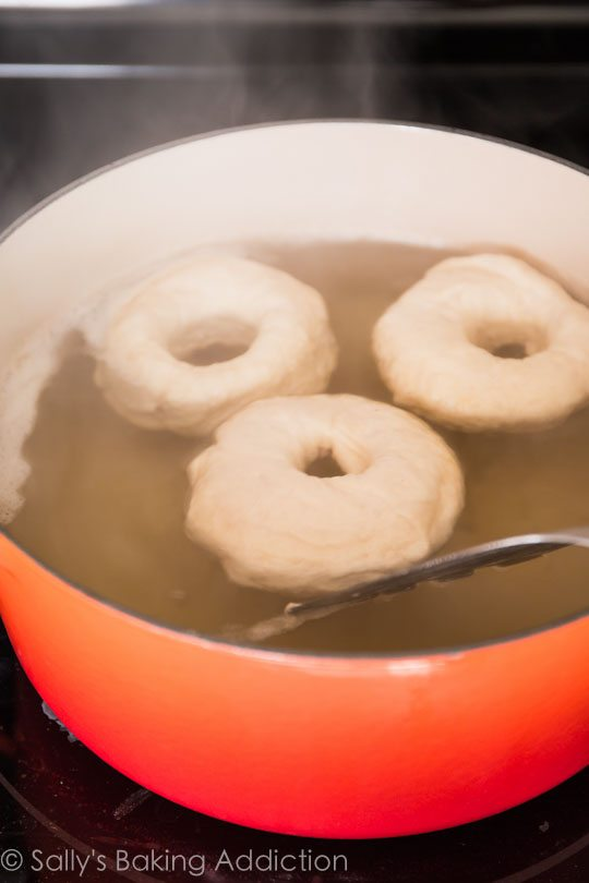 Water Bath for Homemade Bagels
