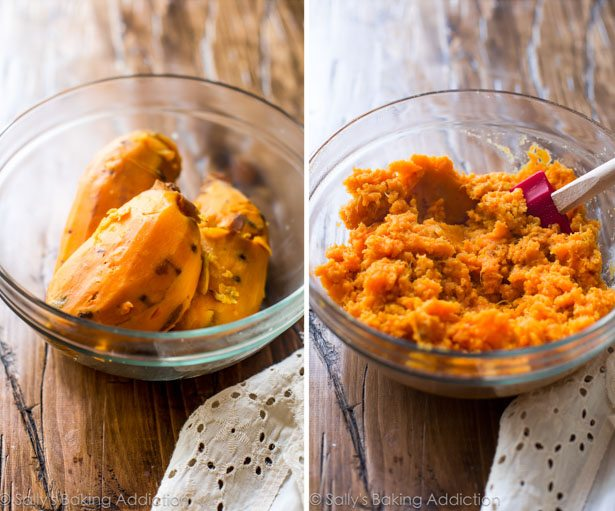chunks in the mashed sweet potatoes for a little texture. You can mash ...