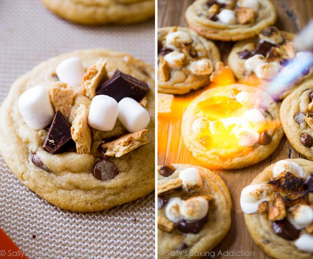 Toasted Smore Chocolate Chip Cookies
