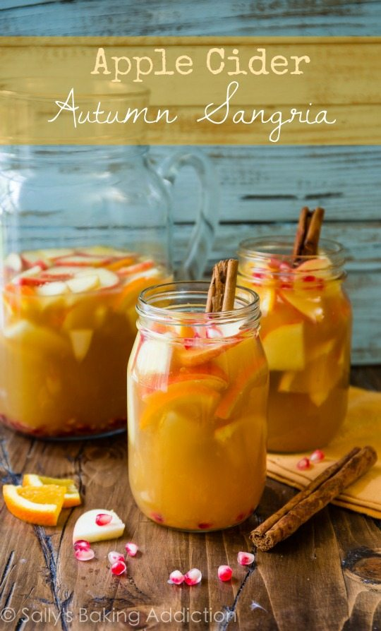 Apple Cider Autumn Sangria by sallysbakingaddiction.com