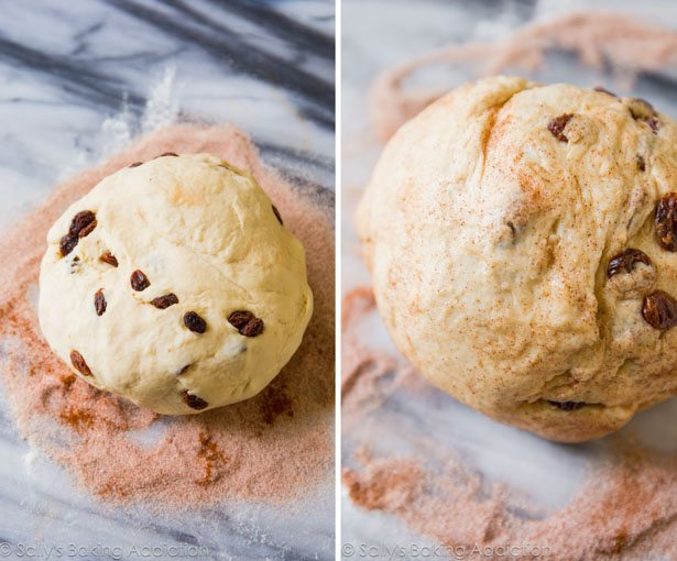 Here's exactly how to make homemade cinnamon raisin bagels with lots of step-by-step photos! Click through for the recipe on sallysbakingaddiction.com