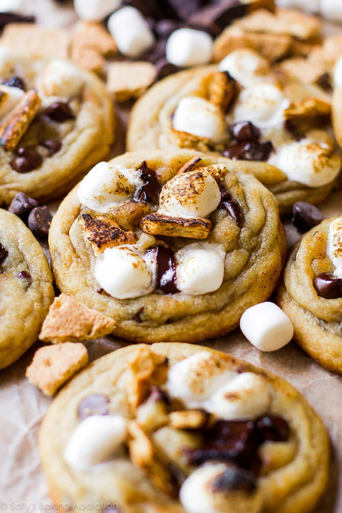 Toasted S'more Chocolate Chip Cookies - Sallys Baking Addiction