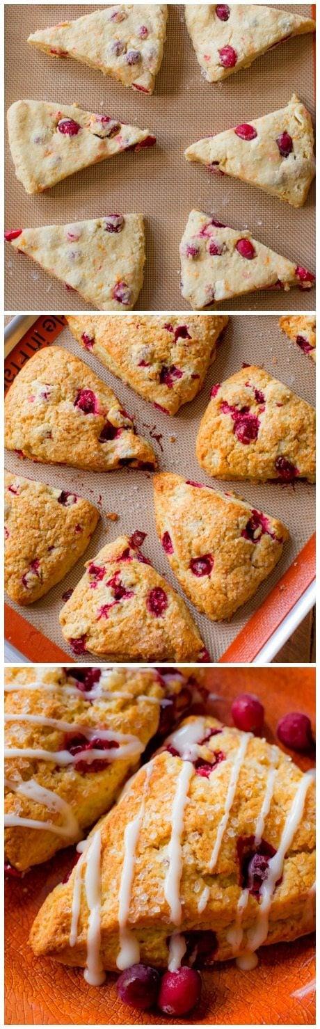 orange flavor, orange glaze, and lots of cranberries make these scones ...