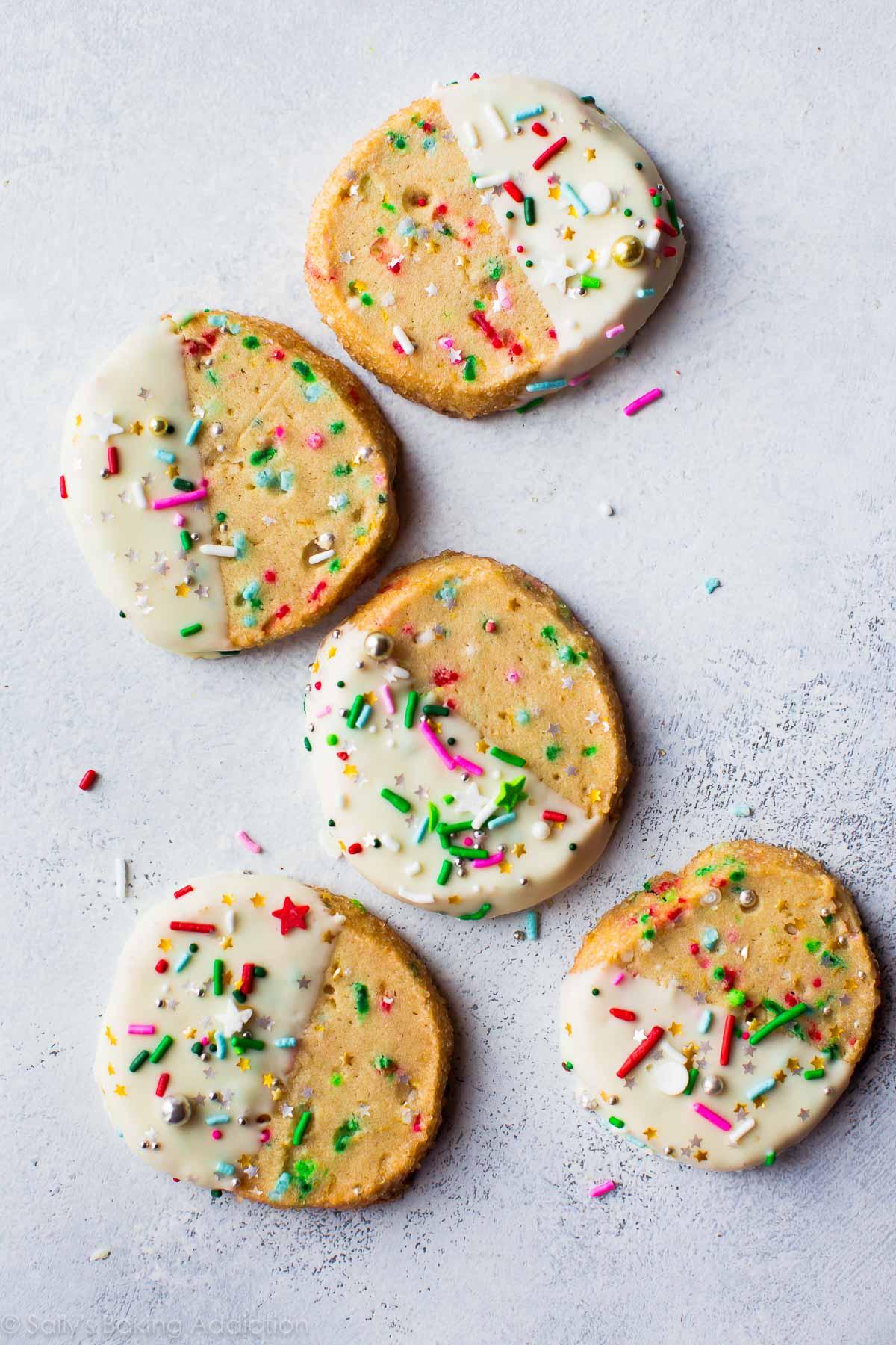 Funfetti Slice and Bake Cookies on sallysbakingaddiction.com