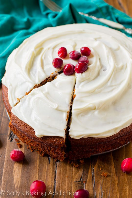 Moist Gingerbread Spice Snack Cake - Sallys Baking Addiction