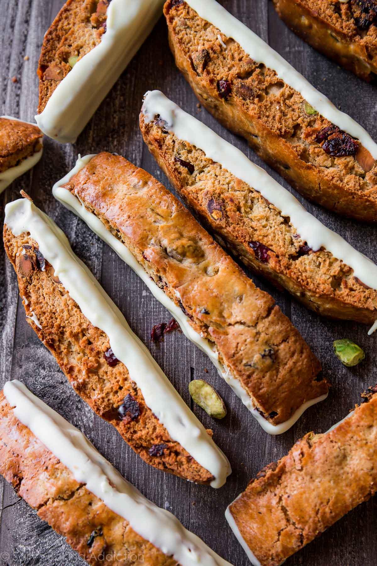 White Chocolate Cranberry Pistachio Biscotti - Sallys Baking Addiction