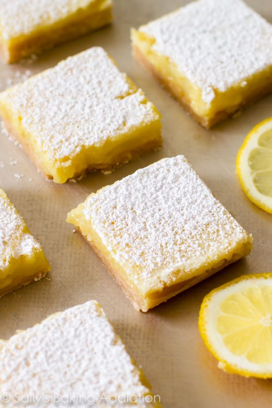 Classic Lemon Bars by sallysbakingaddiction.com