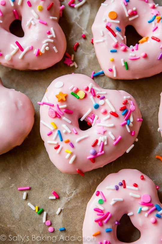 pink party donuts sally s baking addiction