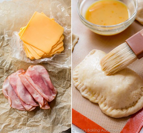 Homemade Ham & Cheese Pockets | sallysbakingaddiction.com