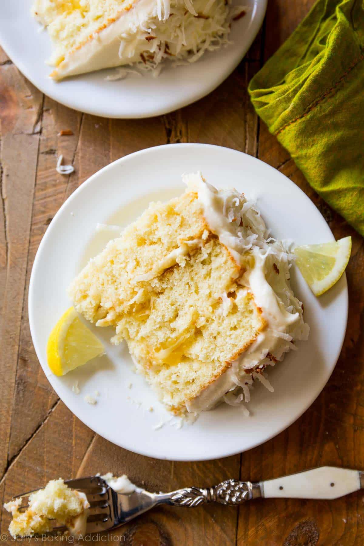 Coconut Flour Cake With Lemon Curd