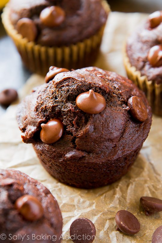 ... whole wheat muffins as fudgy as brownies and moist as chocolate cake