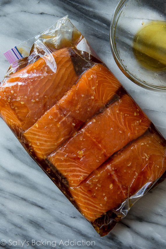 marinating salmon