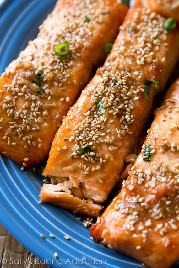Easy, flavor-packed, and healthy 6 ingredient maple sesame salmon is on the table in only 35 minutes!