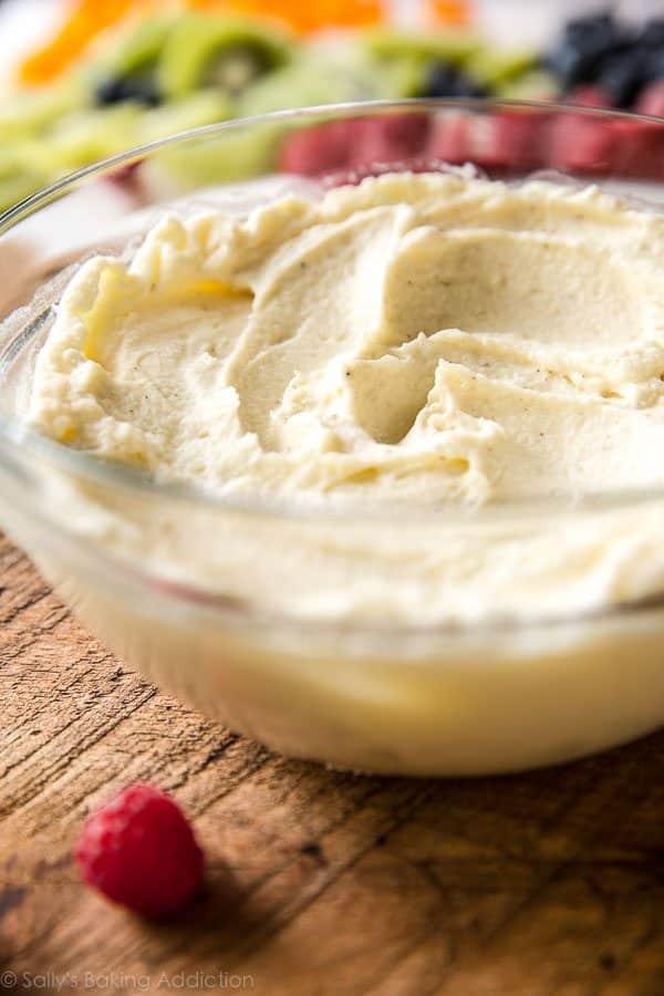 Vanilla Mascarpone Cream on sallysbakingaddiction.com