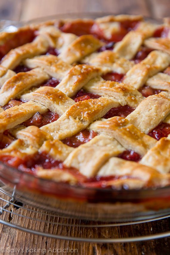 rhubarb pie single crust