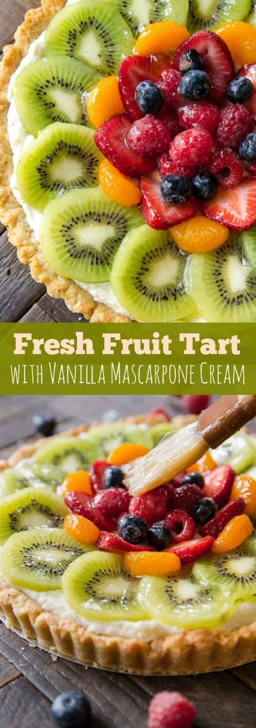 How to make homemade fresh fruit tart with buttery pastry crust and ...