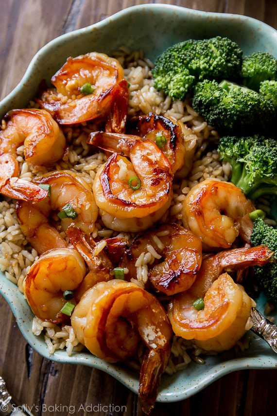Easy Healthy And On The Table In About 20 Minutes Honey Garlic Shrimp