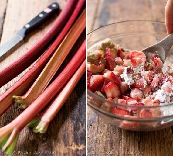 Strawberry Rhubarb Pie on sallysbakingaddiction.com