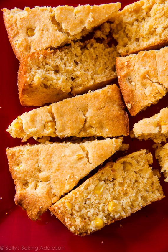 Baking cornbread in a hot skillet makes ALL the difference! Here is my favorite skillet cornbread recipe. sallysbakingaddiction.com