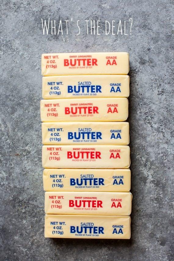 Salted vs Unsalted Butter in Baking on sallysbakingaddiction.com
