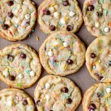 cake batter chocolate chip cookies dough-3