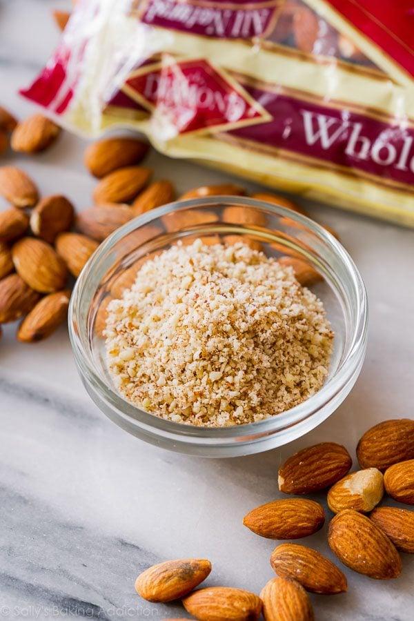 Almond meal for snack bars on sallysbakingaddiction.com