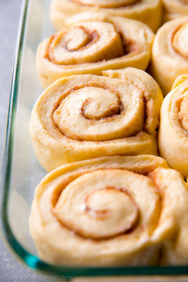 How to make big giant cinnamon rolls on sallysbakingaddiction.com