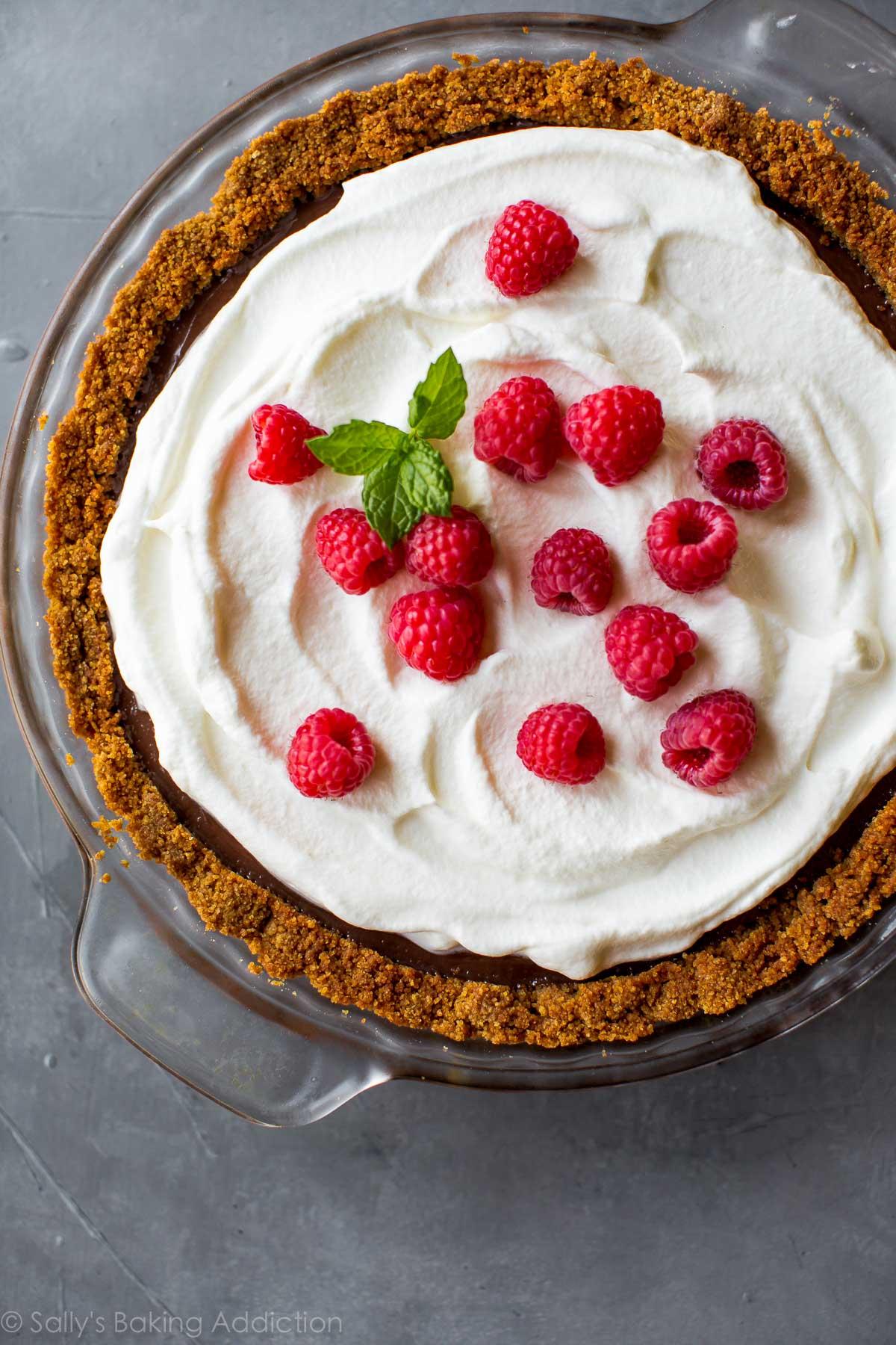 Homemade Chocolate Pudding Pie - Sallys Baking Addiction