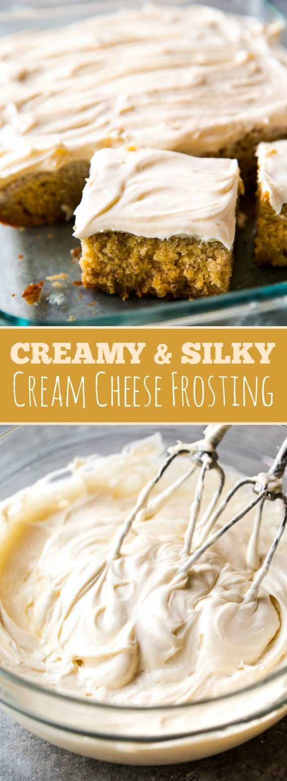 Creamy Silky Smooth And Simple Cream Cheese Frosting Recipe On Sallysbakingaddiction