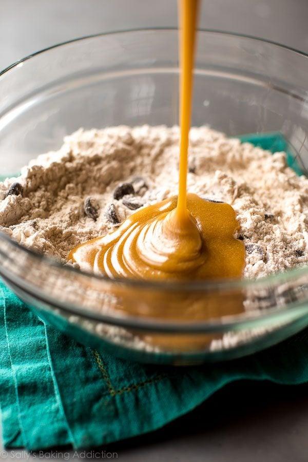 How to make dark chocolate coconut blondies on sallysbakingaddiction.com