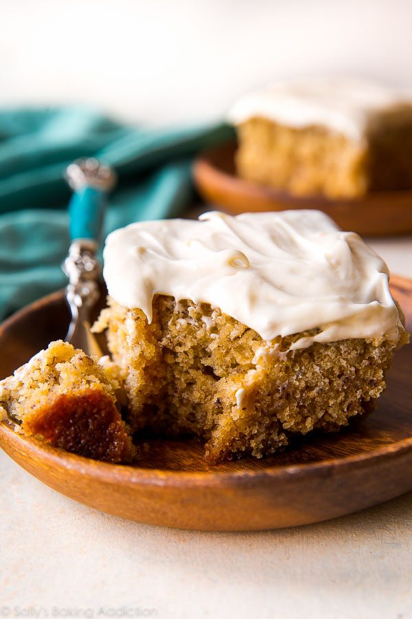 Recipe For Crazy Banana Cake With Cream Cheese Frosting
