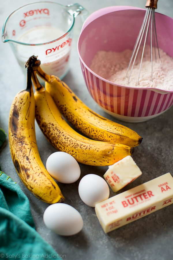 How to make the best banana cake on sallysbakingaddiction.com
