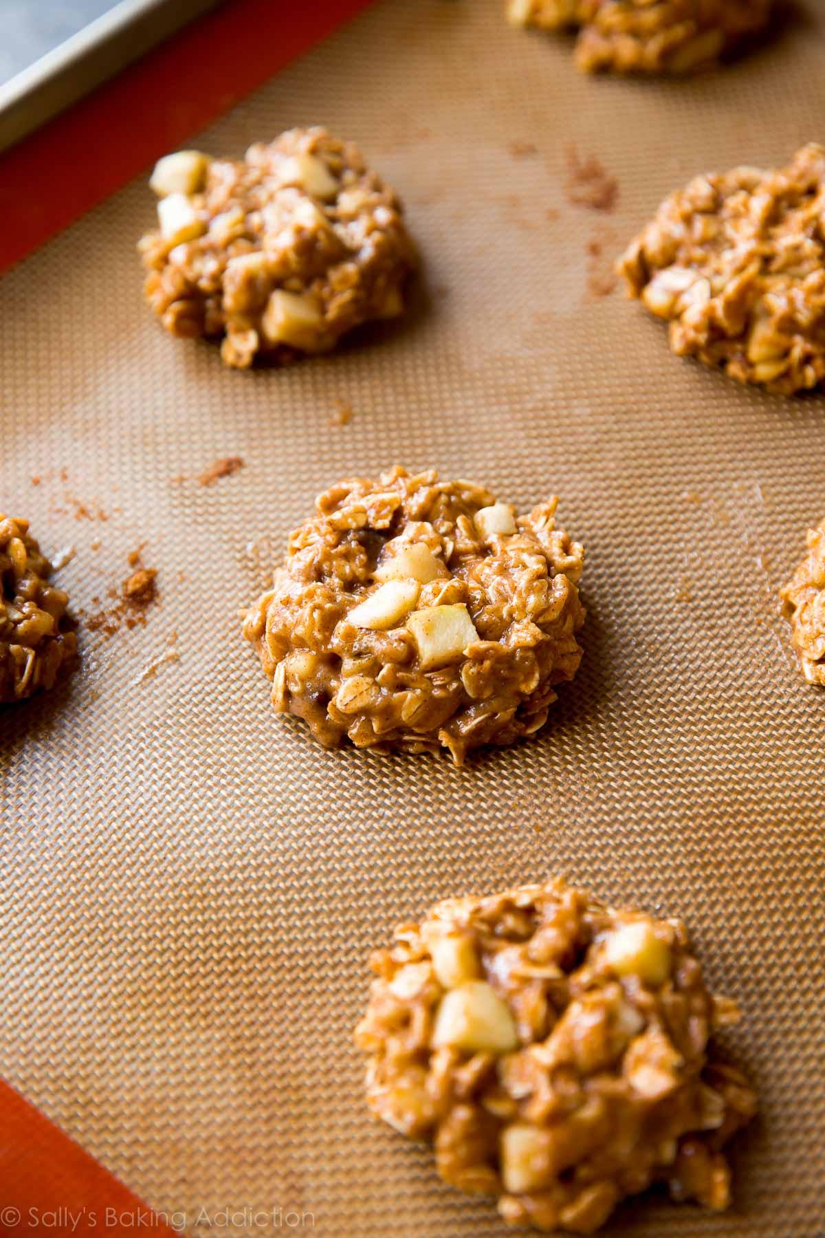 How to make apple cinnamon oatmeal cookies on sallysbakingaddiction.com
