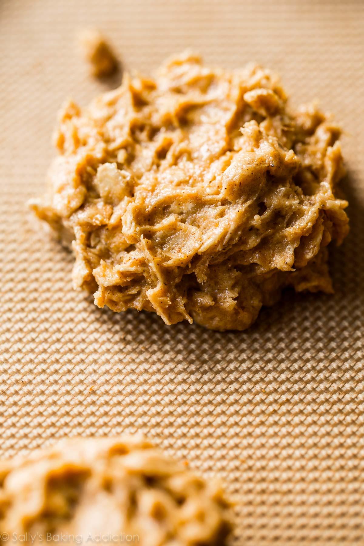 Brown butter pumpkin oatmeal cookies on sallysbakingaddiction.com