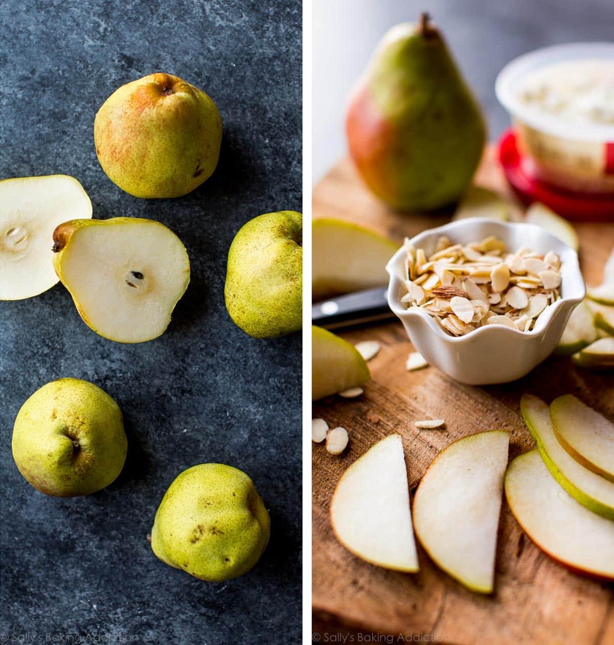 Quick and easy honey pear tart on sallysbakingaddiction.com