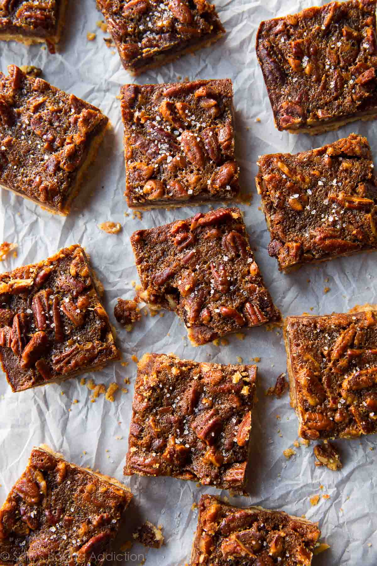 an entire pie! These brown butter pecan pie bars are made with maple ...