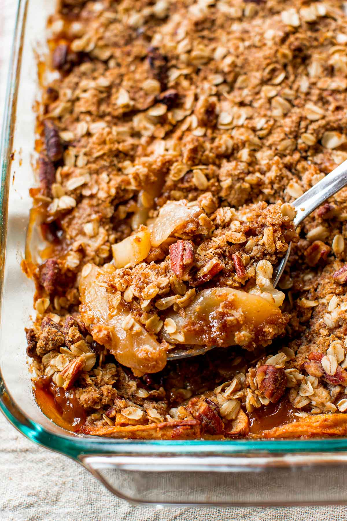 cinnamon apple pear crisp - sallys baking addiction