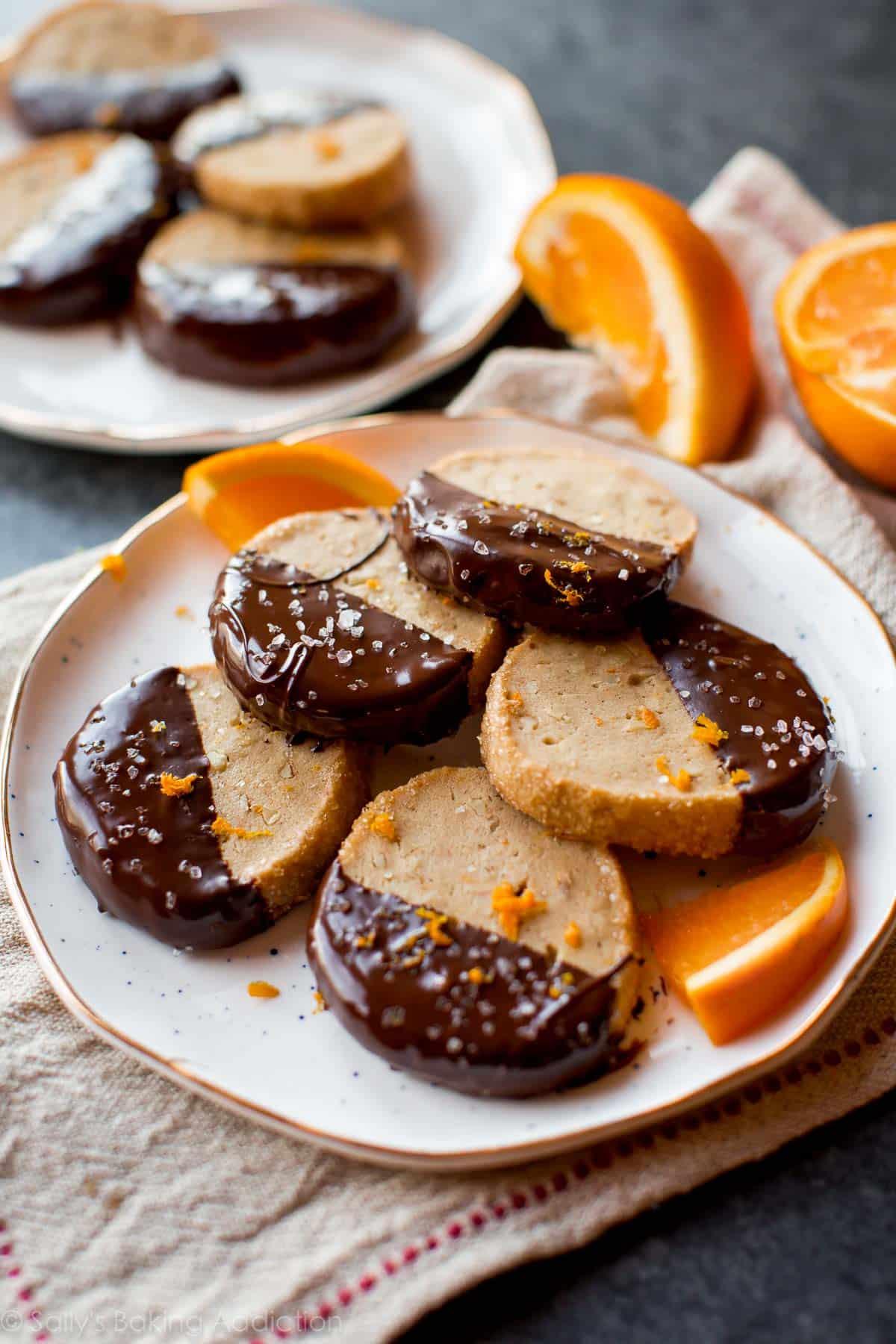 Dark Chocolate Orange Slice & Bake Cookies - Sallys Baking Addiction