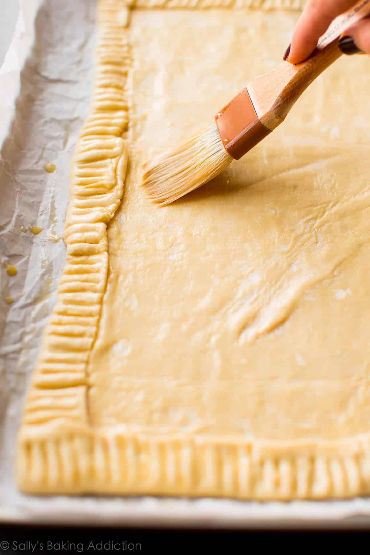 Crust for honey pear tart on sallysbakingaddiction.com