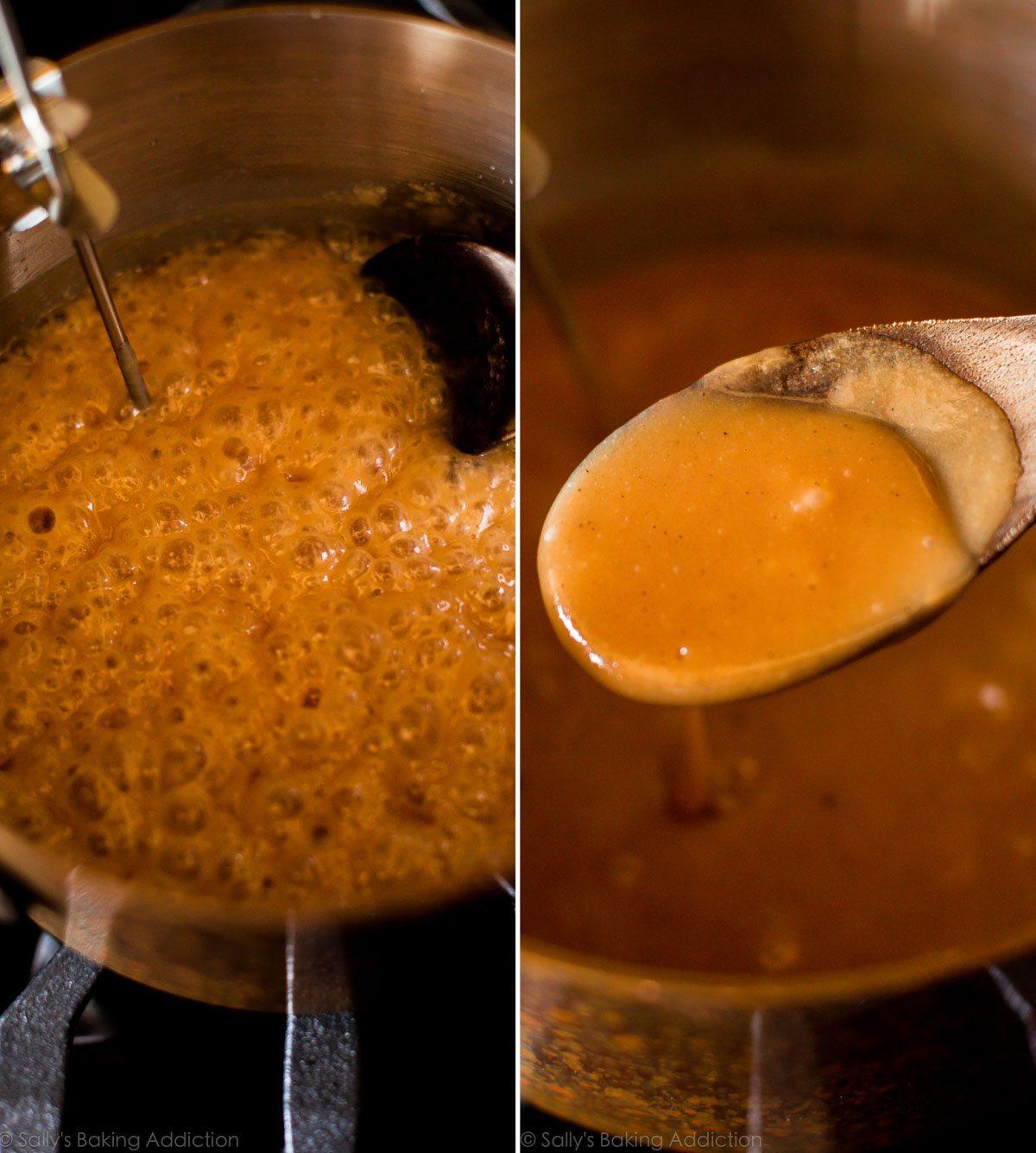 How to make sea salt vanilla caramels on sallysbakingaddiction.com