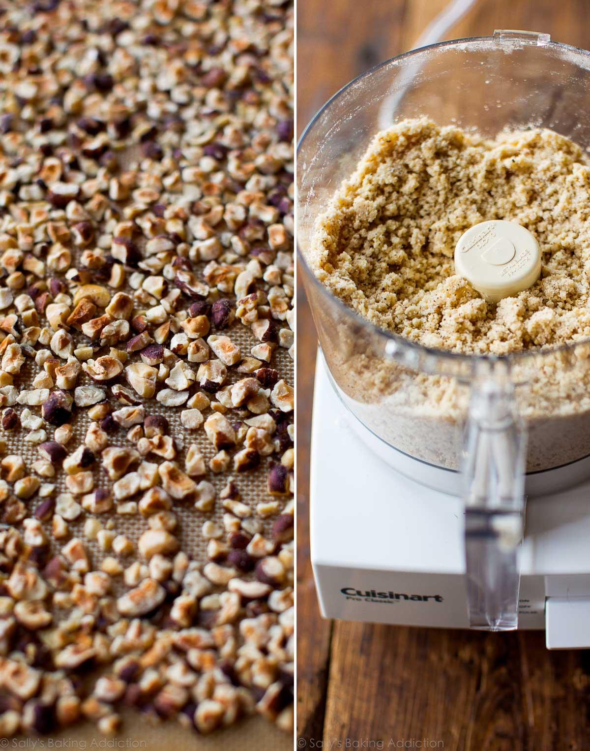 Nutella tart toasted hazelnut crust on sallysbakingaddiction.com