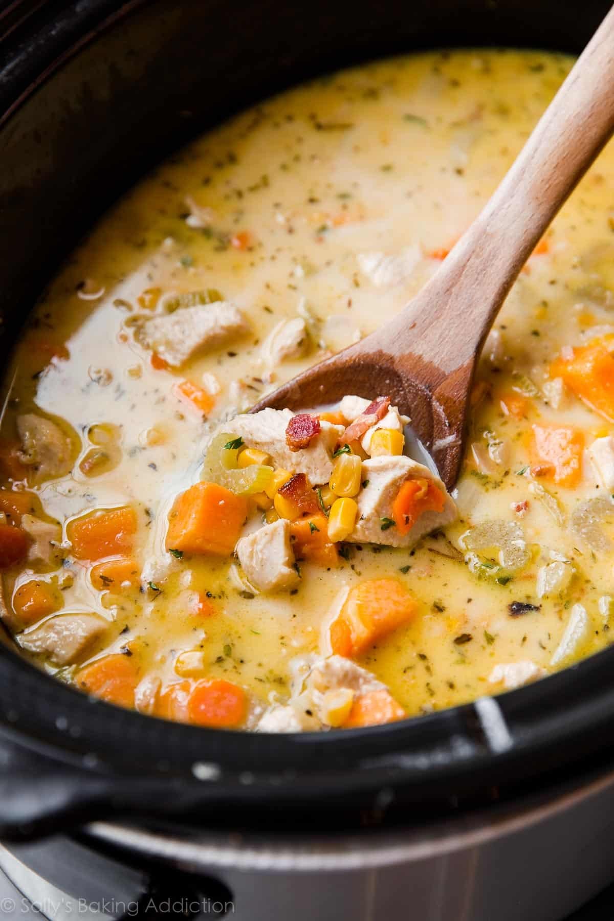 Superior Jump To Recipe. Slow Cooker And So Easy! Light Chicken Corn Chowder With  Sweet Potato And Bacon!