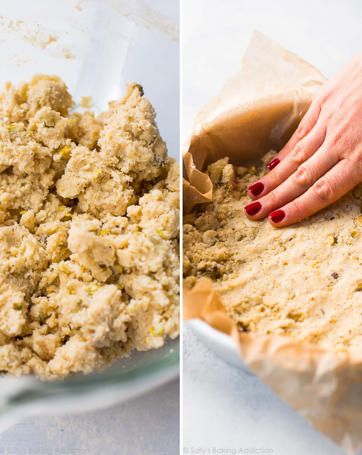 How to make shortbread dough on sallysbakingaddiction.com