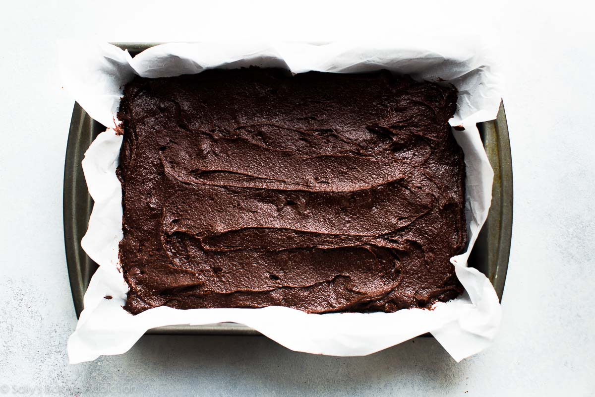 How to make homemade fudgy brownies on sallysbakingaddiction.com