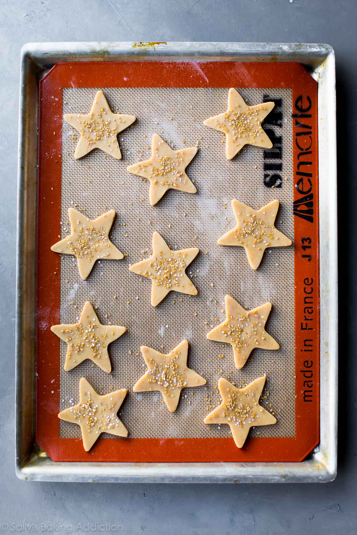 Maple cinnamon star cookies on sallysbakingaddiction.com
