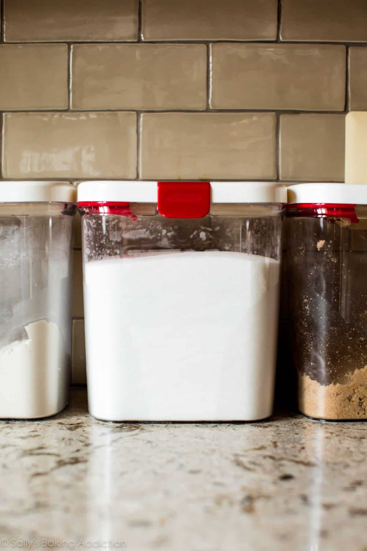 Flour sugar containers